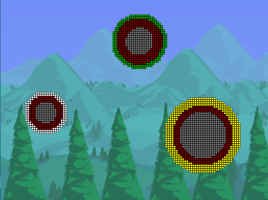 From a very early test build. I used a background from Terraria as a placeholder.